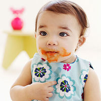 baby with messy face