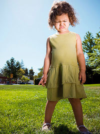 Toddler crying in the park