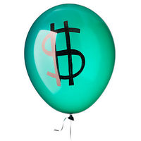 balloon with dollar sign