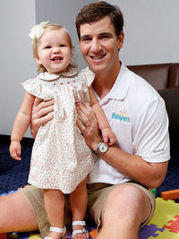 Eli Manning with daughter