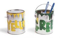 Yellow and Green Paint