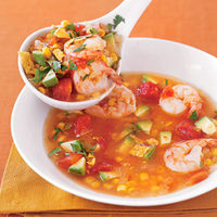 Salsa Shrimp Soup