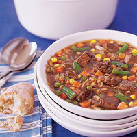 Beef and Barley Vegetable Soup