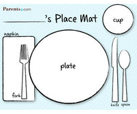 Placemat Table Setting Printable