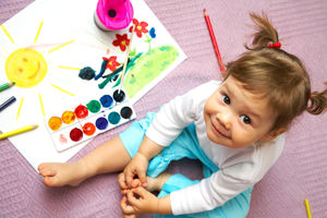 Little Girl Painting Pictures