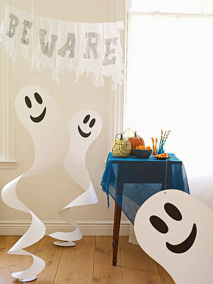 quick and easy halloween paper crafts - Easy Halloween Decorations For Kids