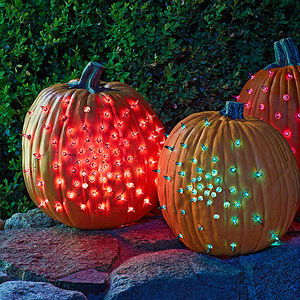glowing gourds halloween decorations - Pretty Halloween Decorations