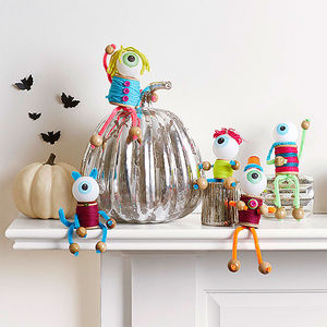 how to make spool monster halloween decorations