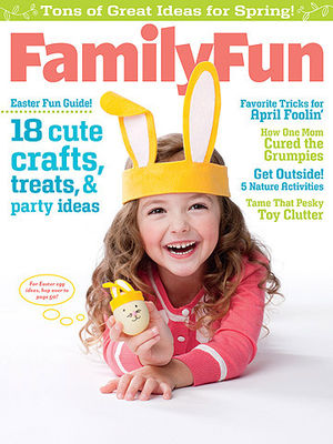 Family Fun April 2012 cover