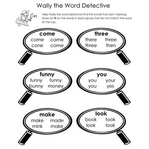 find the word worksheets
