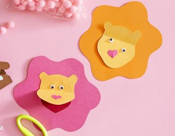 Lion Craft for Valentines Day
