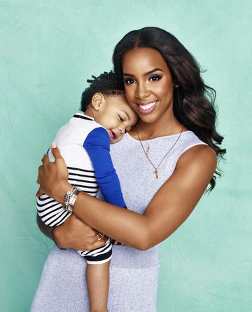 Kelly Rowland with son Titan