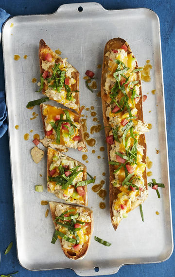Tuna Melts With Spinach Slaw