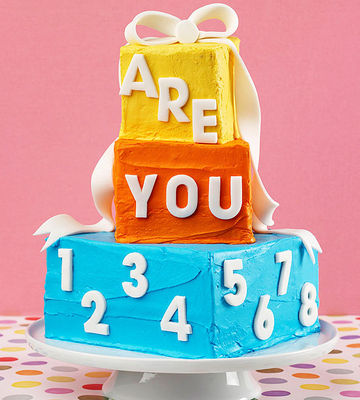 Birthday cake. How old are you?