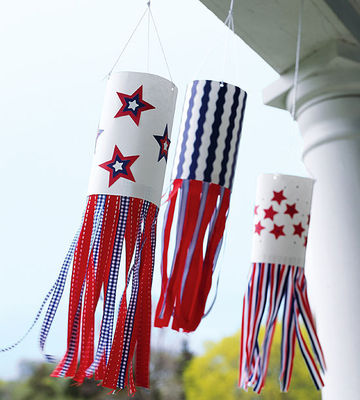 Patriotic wind socks