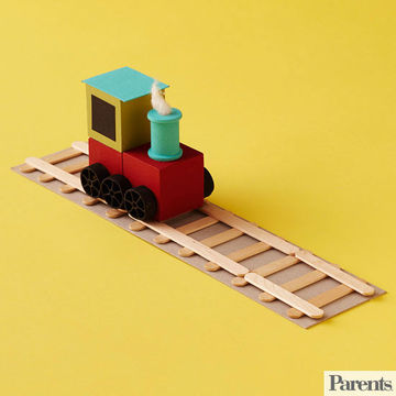 Wood Train Craft