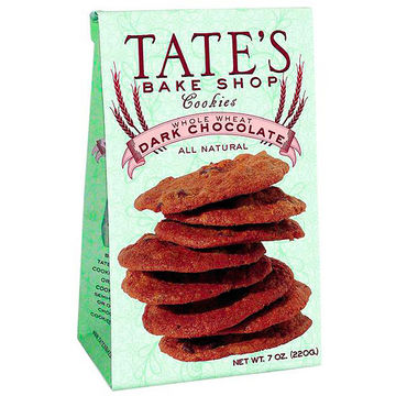 Tate's Bake Shop Whole Wheat Dark Chocolate Cookies packaging
