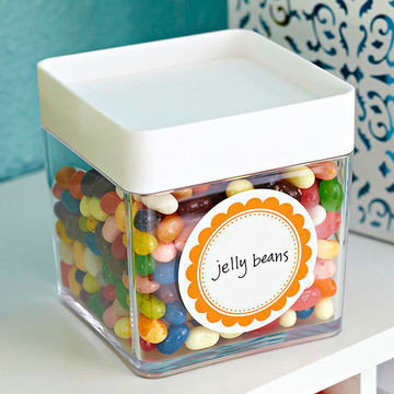 labeled jelly beans