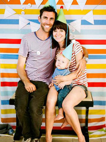 Striped Photo Booth Picture