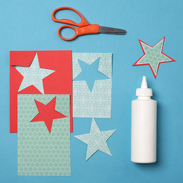 Step 2: Shooting Star Holiday Card