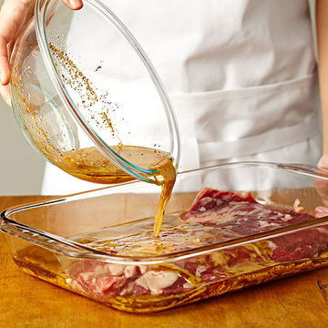 Pouring marinade