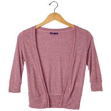 Lilac cropped cardigan
