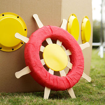 how to make a steering wheel out of cardboard