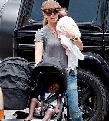 Jillian Michaels and her adopted children