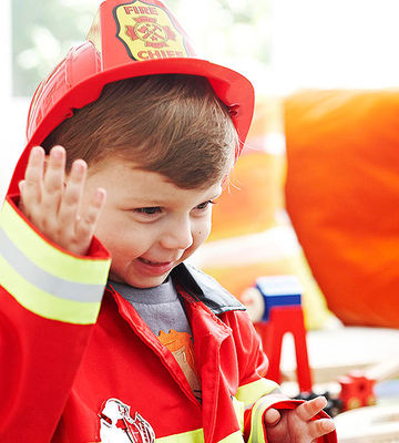 child in fireman costume