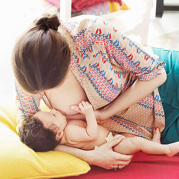 Lying down breastfeeding position