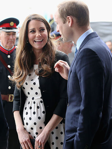 Duchess of Cambridge and Prince William Visit a Studio