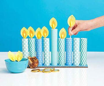 Creative holiday crafts for kids for Menorah arts and crafts