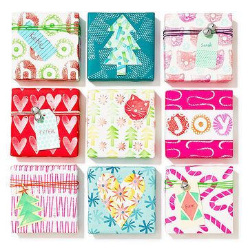 9 homemade wrapping paper packages