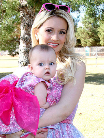 Holly Madison and daughter Rainbow