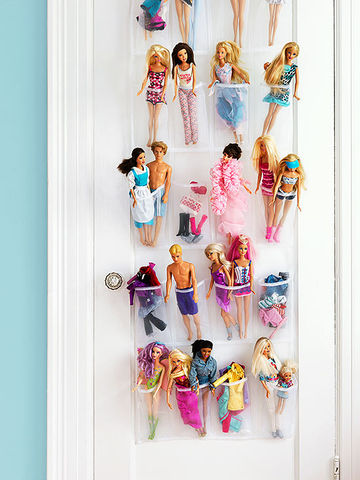 Innovative And Easy Toy Storage - Barbie doll storage ideas