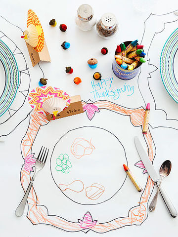 Coloring-Book Tablecloth