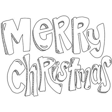 merry christmas - Christmas Coloring Sheets Print