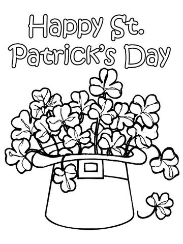 st patricks day clovers - Spring Pictures To Color