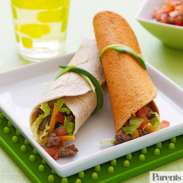 Soft Beef and Veggie Tacos