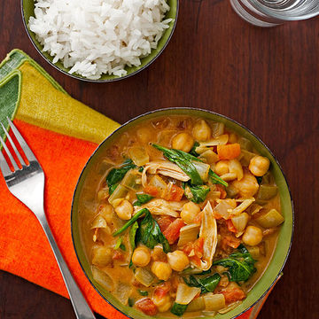 Chicken Curry With Spinach & Chickpeas