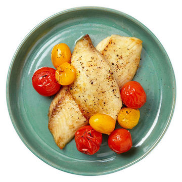 Broiled Fish and Tomatoes