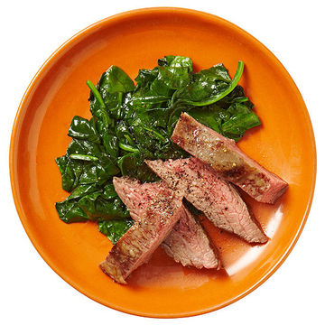 Steak With Wilted Greens