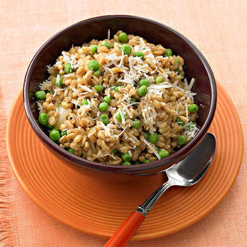 Farotto With Peas and Parmesan