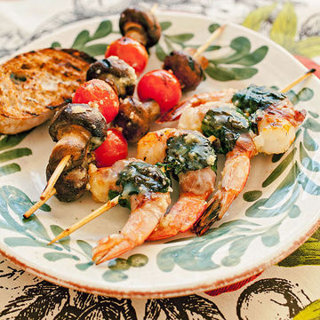 Prosciutto-and-Spinach-Wrapped Shrimp