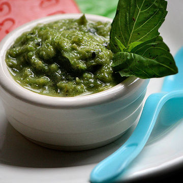 Baby Food with Herbs and Spices - Italian-style Green Beans