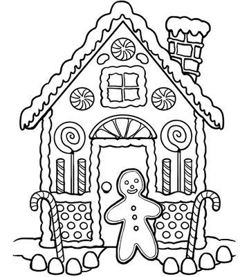 Warm Gingerbread House
