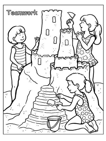 students working together coloring pages - photo#3