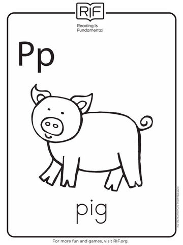 pig coloring pages for preschoolers - photo#13