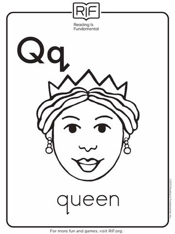 Q is for Queen Coloring Page  Tracing  Twisty Noodle