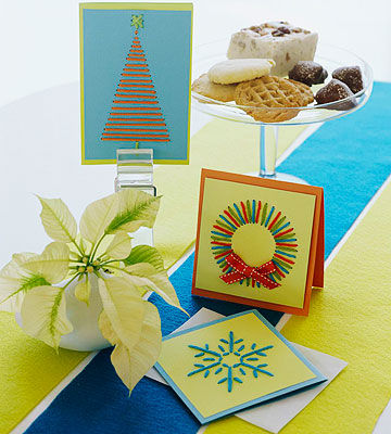 Stitched greeting cards